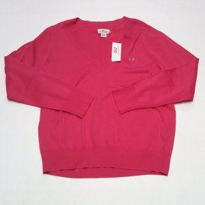 Vineyard Vines V-Neck Sweater Heritage Cotton Pink